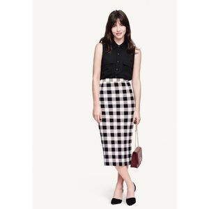 Who What Wear Gingham Pencil Skirt 4